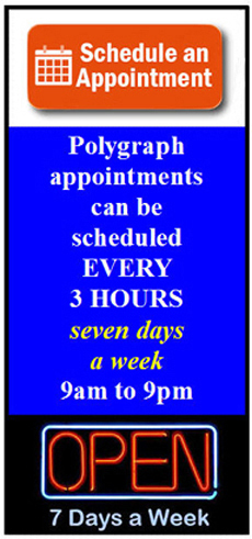 schedule a Palmdale polygraph appointment